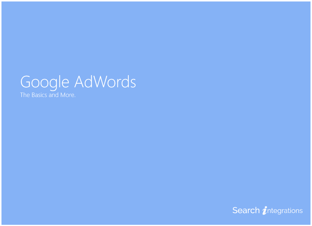 Google AdWords for Beginners Presentation